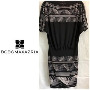BCBGMaxAzria off Shoulder dress w/ fitted skirt